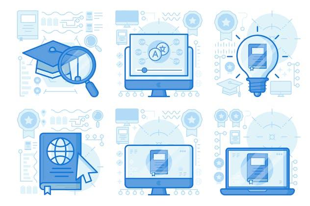 Find Education UI UX Illustrations