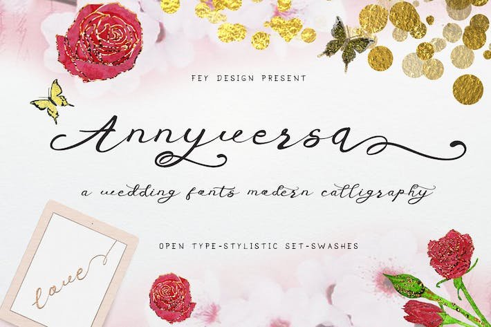 Thumbnail for Anniversa Wedding Font