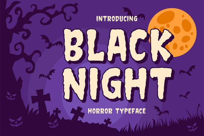 Thumbnail for Black night - Horror Typeface