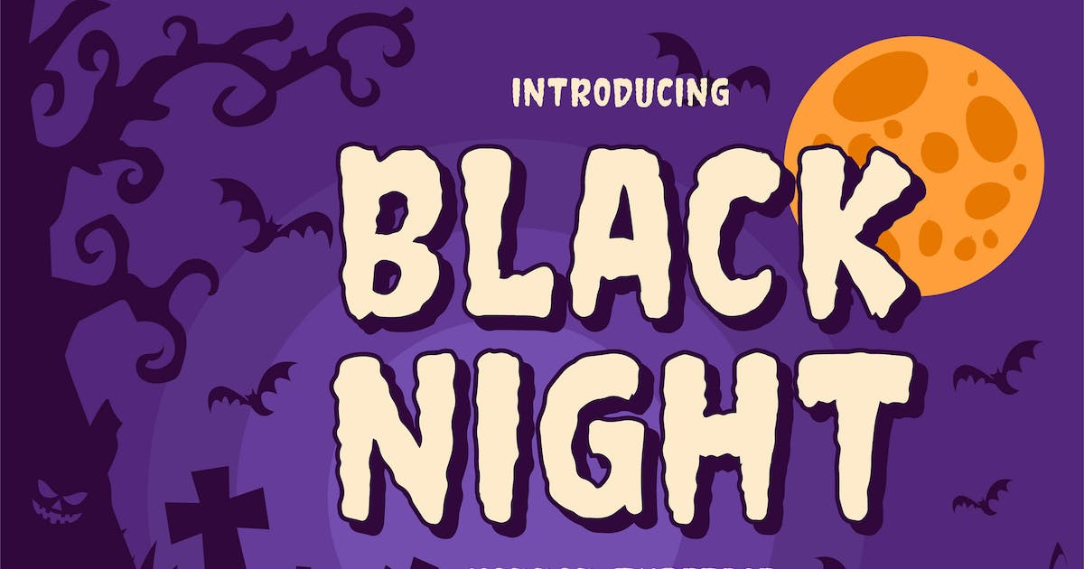 Download Black night - Horror Typeface by Blankids