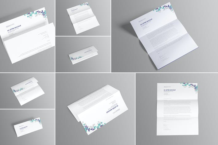 Thumbnail for 7 US Letter Paper Mockups