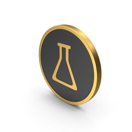 Бутылка с золотым иконом