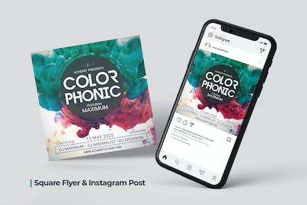 Color Sound Flyer - Social Post