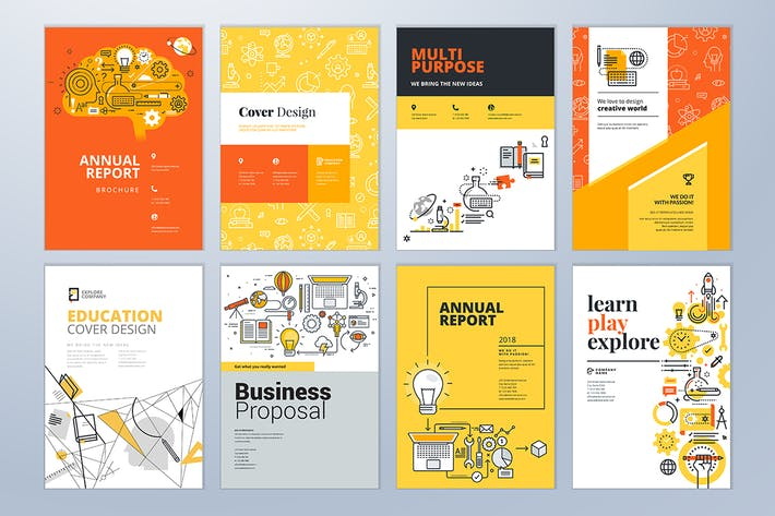 Cover Image For Brochure cover design and flyer layout templates