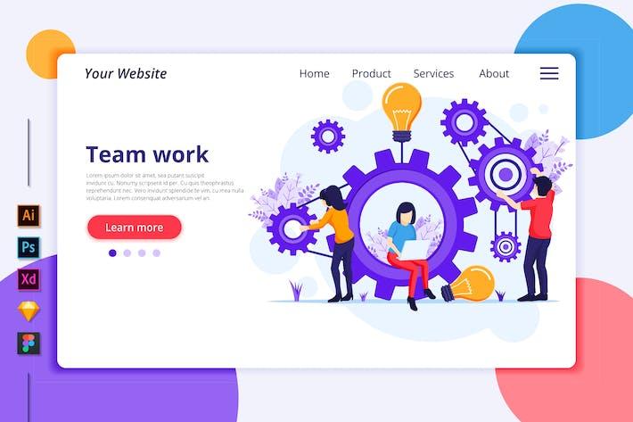 Thumbnail for Teamwork Illustration - Agnytemp