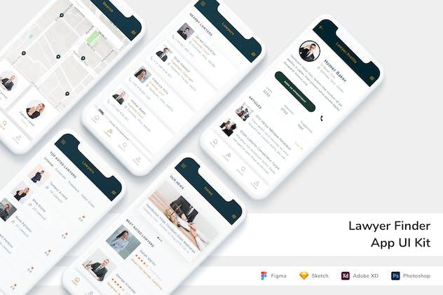 Lawyer Finder App UI Kit