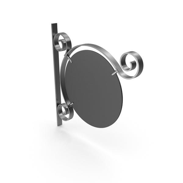 Серебряный металл и черная рамка вывеска