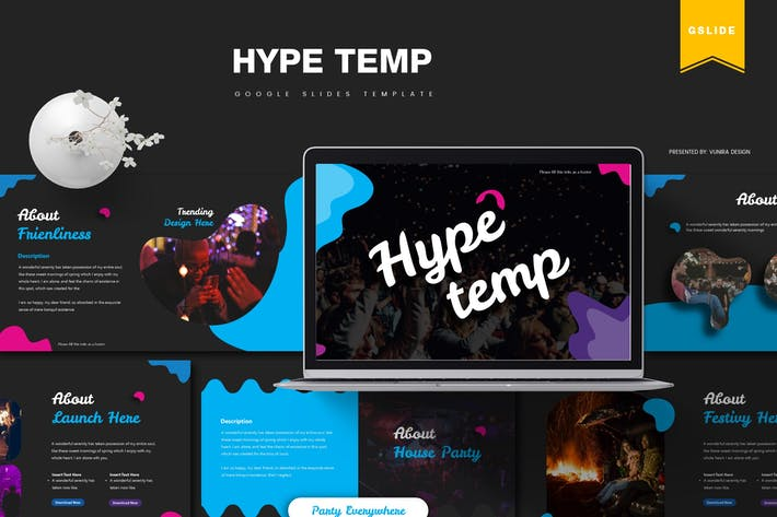 Thumbnail for Hype | Google Slides Template