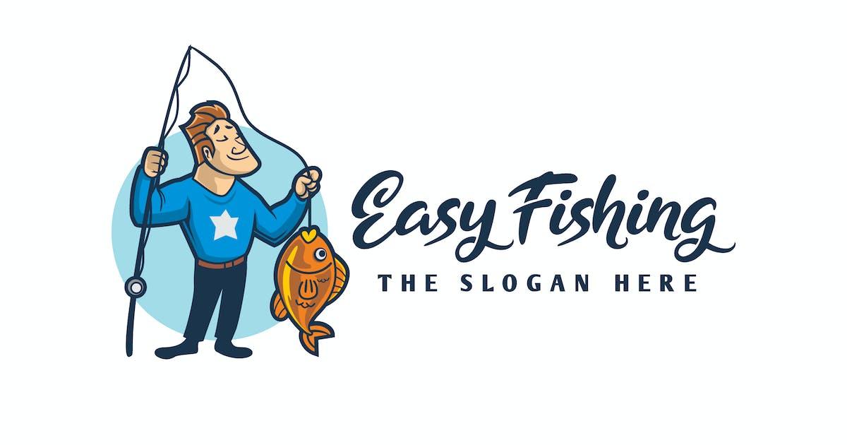 Download Cartoon Angler Character Mascot Logo by Suhandi