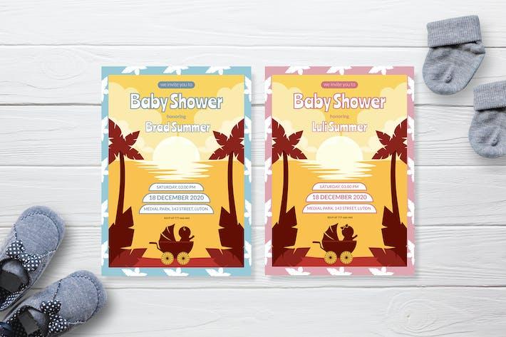 Sunset Silhouette - Baby Shower Invitation