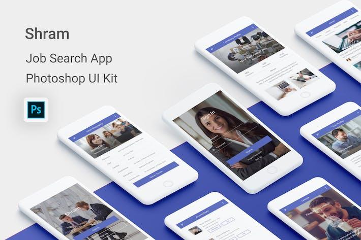 Thumbnail for Shram - Job Search UI Kit for Photoshop