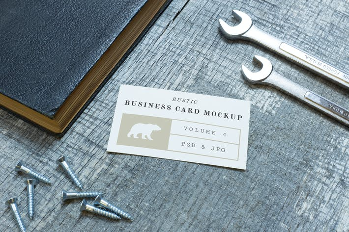 Thumbnail for Rustic Business Card Mockup Vol. 4