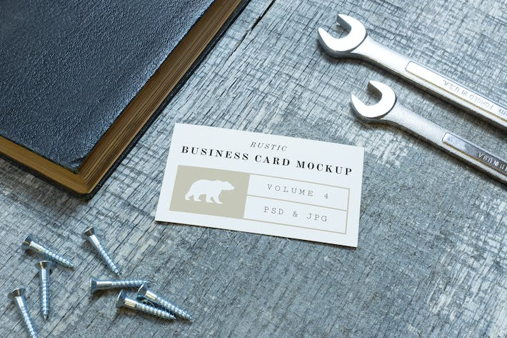 cover image for rustic business card mockup vol 4 - Rustic Business Cards
