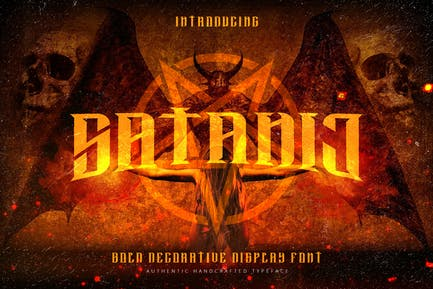Satanic - Decorative Bold Display Typeface