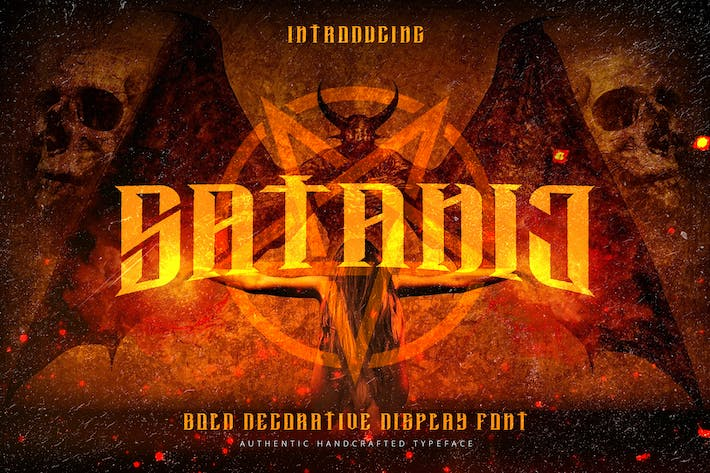 Cover Image For Satanic - Decorative Bold Display Typeface