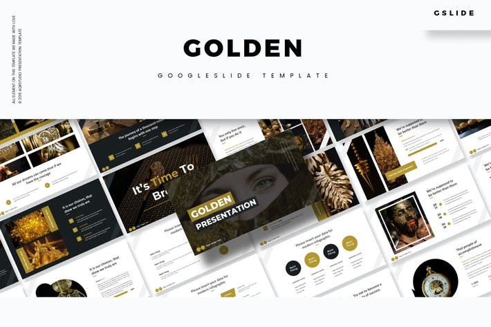 Cover Image For Golden - Google Slides Template