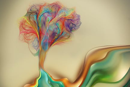 Abstract color tree