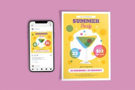 Cocktail-Sommerfest-Vorlage
