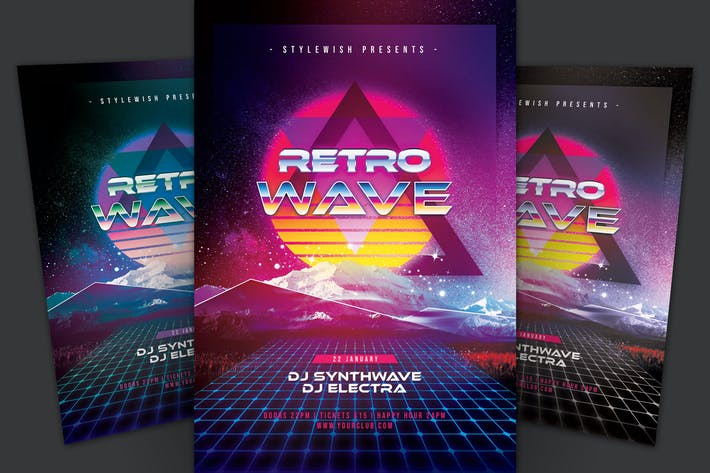 Thumbnail for Retro Wave Flyer