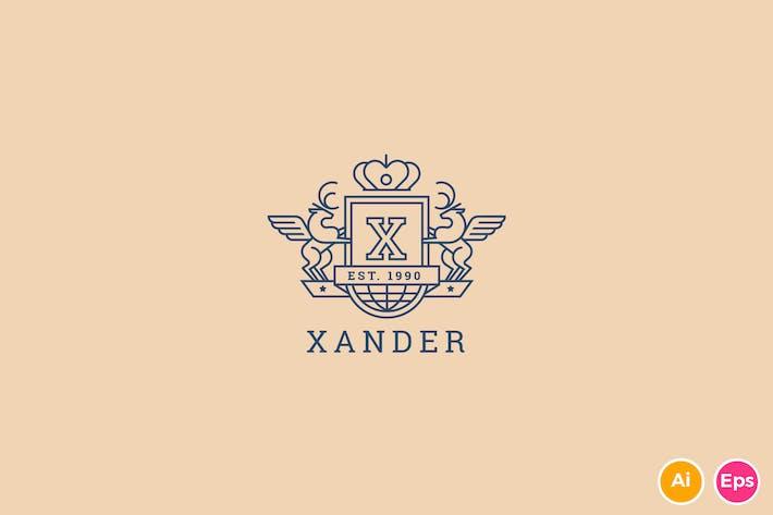 Thumbnail for Xander - Letter X Heraldry Logo