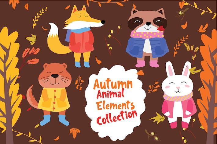 Thumbnail for Herbsttier - Vektor illustration