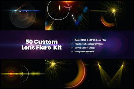 50 Kit de efectos de luz y destellos de lente personalizados