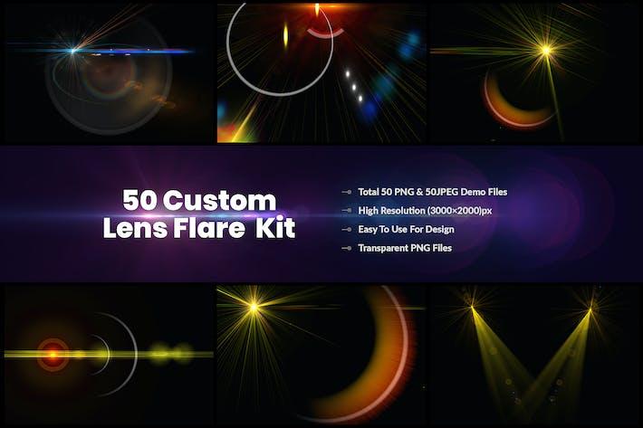 50 benutzerdefinierte Objektiv-Blare & Lichteffekte Kit