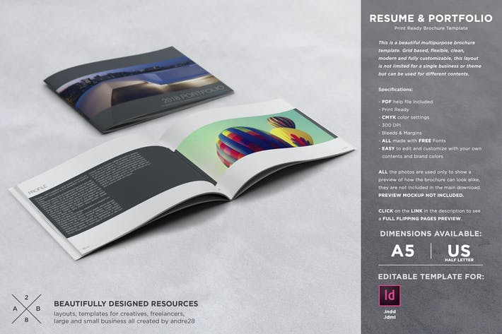 Thumbnail for Portfolio & Resume Template
