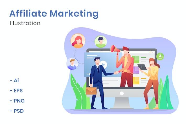 Thumbnail for Affiliate Marketing Illustration