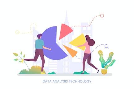 Data Analysis Technology Vector Illustration