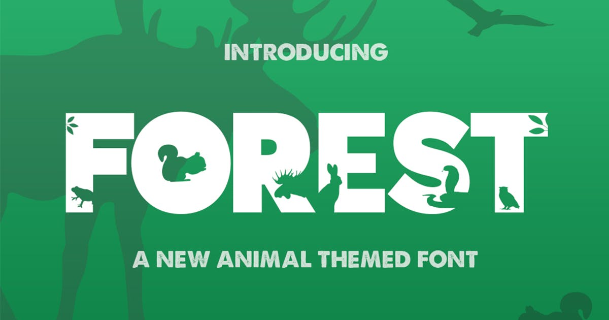 Download The Forest Font by maroonbaboon