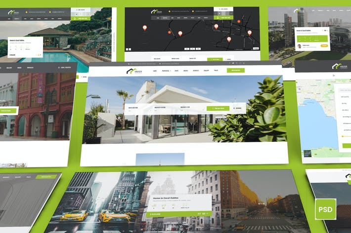 Thumbnail for Hauser - Real Estate PSD Template