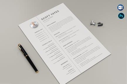 Business CV & Letter Office Doc