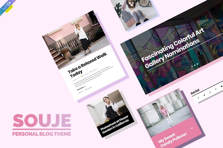 Thumbnail for Souje - Personal WordPress Blog Theme