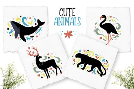 Decorative Animals Illustrations