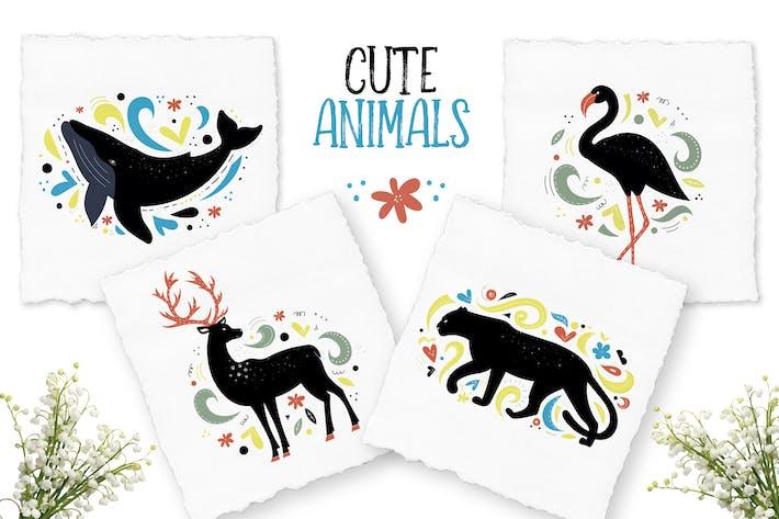 Thumbnail for Decorative Animals Illustrations