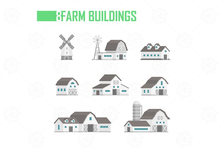 Thumbnail for Farm buildings set of objects
