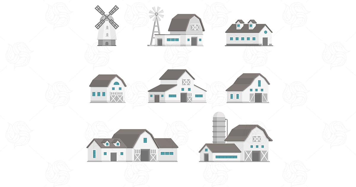Download Farm buildings set of objects by BoykoPictures