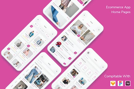 Ecommerce App Home Pages