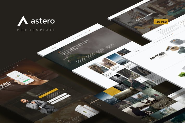 Thumbnail for Astero — Multipurpose Portfolio | Blog | Store PSD