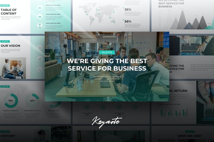 Thumbnail for Alcite - Business Keynote Template