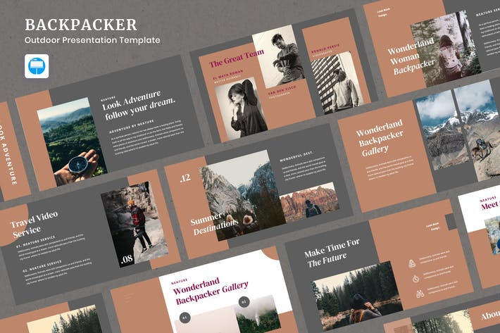 Thumbnail for Backpacker - Outdoor Presentation Keynote