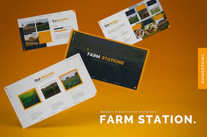 Cover Image For Farm Stations - Powerpoint Template