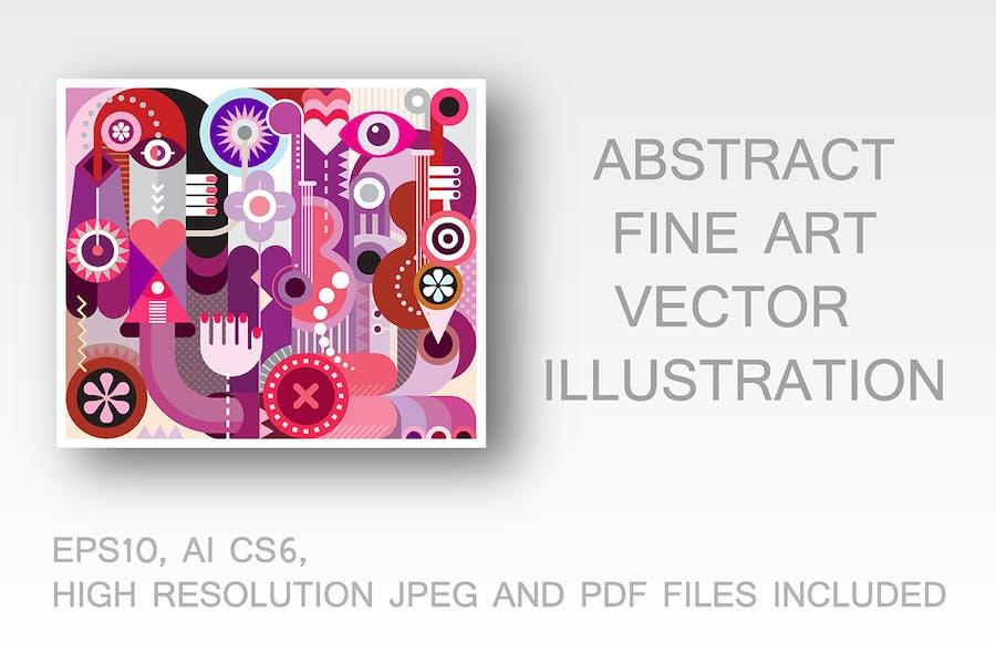 Music Festival fine art vector illustration
