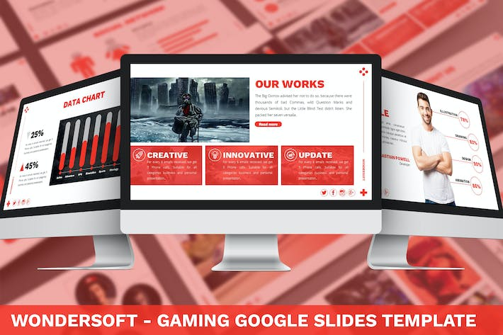 Thumbnail for Wondersoft - Gaming Google Slides Template