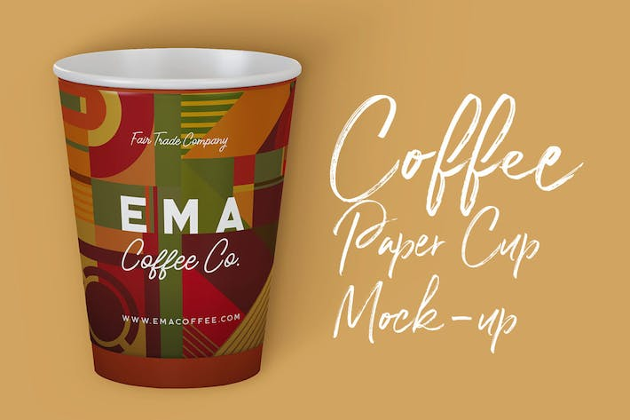 Thumbnail for Coffee Paper Cup Mock-up