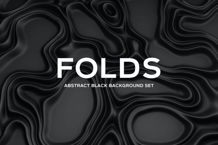 Folds - Abstract Black Background Set