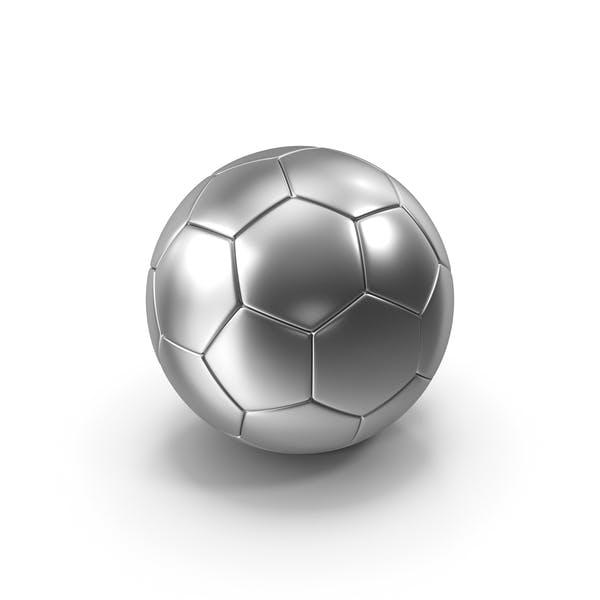 Футбольный мяч Серебряный