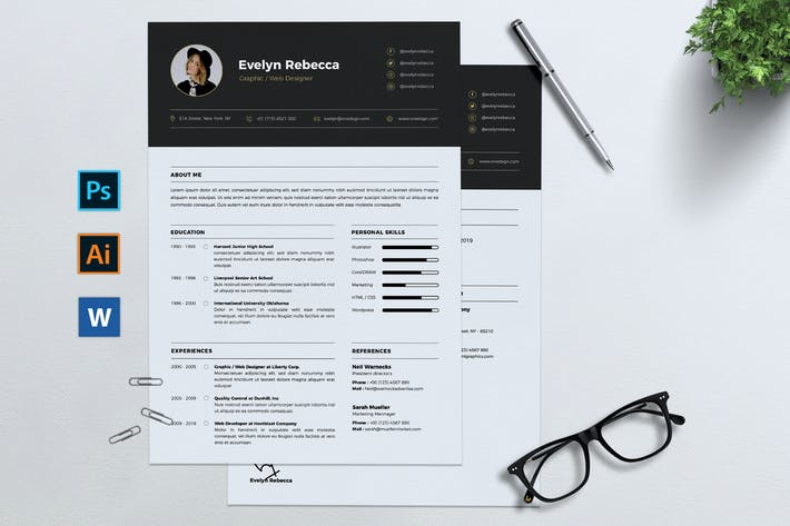 Thumbnail for Minimalist CV Resume Vol. 07