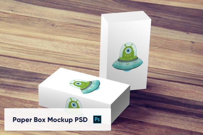 Thumbnail for Paper Box PSD Mockup - Vol. 8